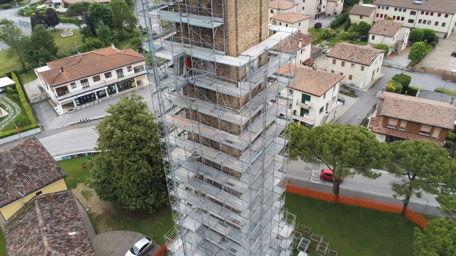 Restauro del campanile della chiesa parrocchiale di Breda di Piave