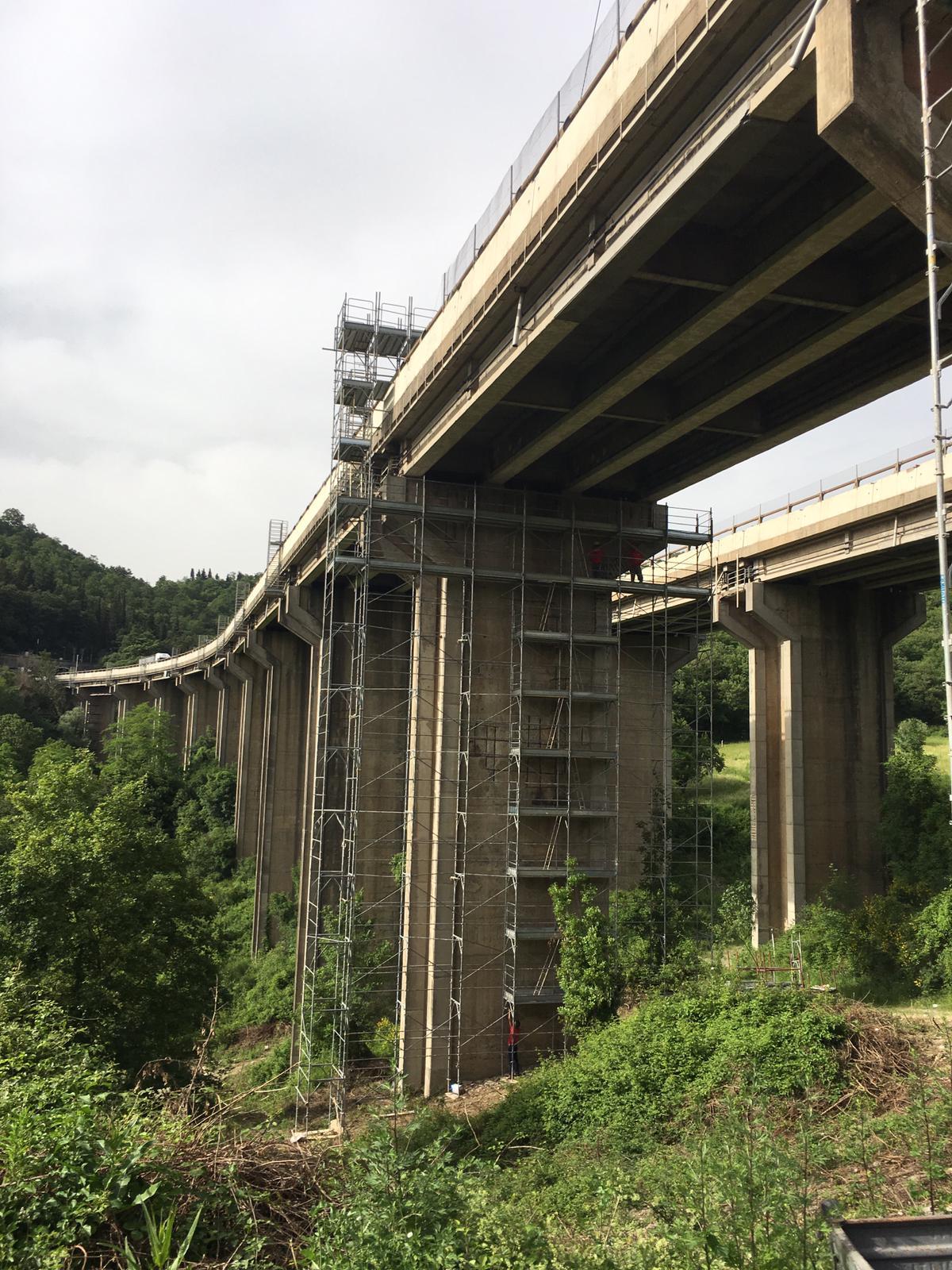Manutenzione viadotto Autostrada A1 Barberino di Mugello